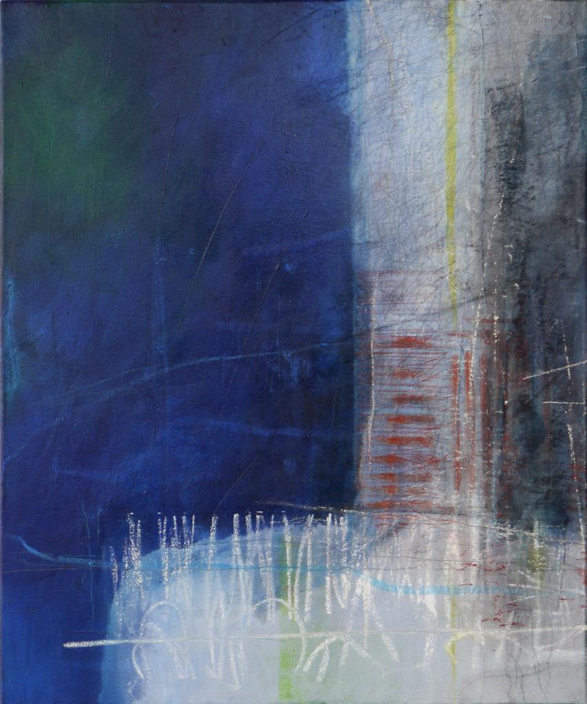 Memories 1, 2015,  technique mixte sur toile, 60 x 50 cm